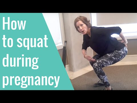 How to squat during pregnancy (AMAZING for labour and birth!)