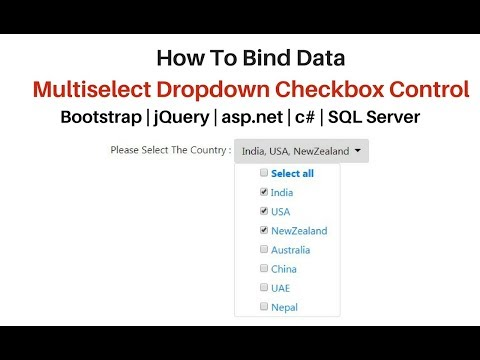 asp.net multiselect dropdown with checkbox in jquery bootstrap 4.1.0