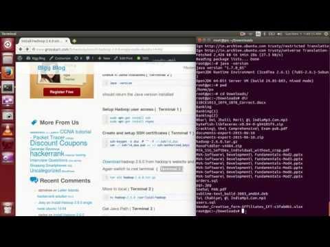 Install Hadoop 2.6.0 single node ubuntu 14.04