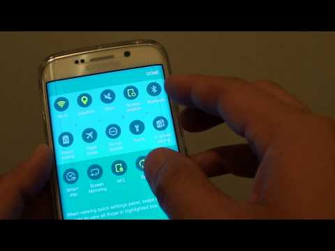 Samsung Galaxy S6 Edge: Turn On Mobile Data With Missing Mobile Data Icon from Quick Access