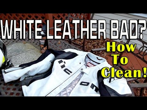 White Leather Bad or Good for Motorcycle Riding? How To Clean Leather Gear
