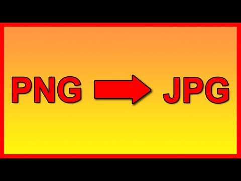 How to convert a PNG image file to JPG for free - Tutorial