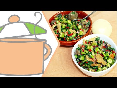 Oiless NonSlimy Okra Soup (Okra Pepper Soup)