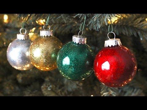 DIY Best Glitter Ornaments!!