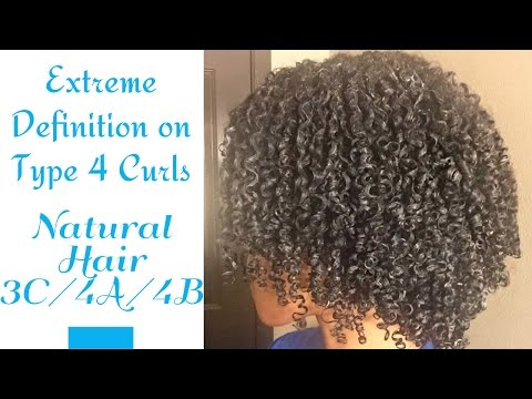 Extreme Definition for Type 3/4 Curls + Denman Brush Review
