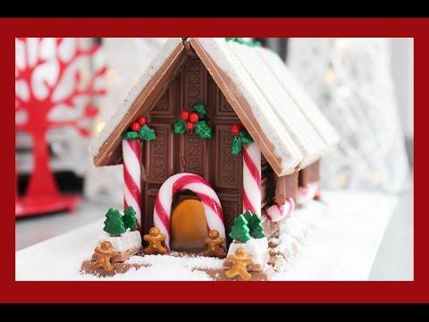 Candy Christmas House! A non-Gingerbread, No Bake Light Up Chocolate Xmas Alternative