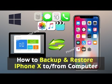 How to Backup & Restore iPhone X to / from Computer