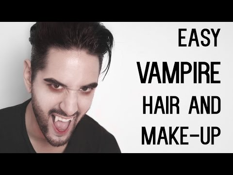 Cheap And Easy Vampire Look - Hair And Make-up - Halloween (Men's Hair and Style) ✖ James Welsh