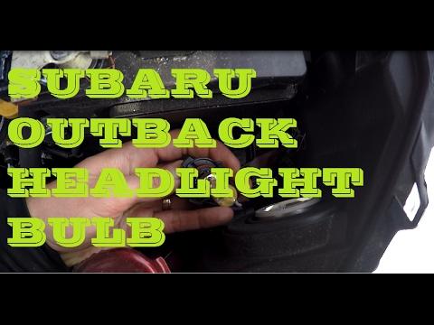 How to change headlight bulb in Subaru Outback 2017