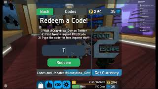 New Code Flood Escape 2 Roblox