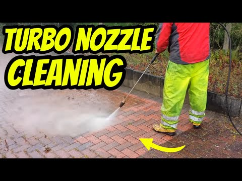 Block Paving Cleaning 400 Bar Rated Turbo Nozzle