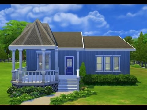 The Sims 4 Speed Build Peaked Porch Lets Play Small House