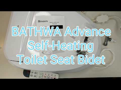 BATHWA Advanced Toilet Seat Bidet. Work on MOST Toilets! Cold and Heated Water