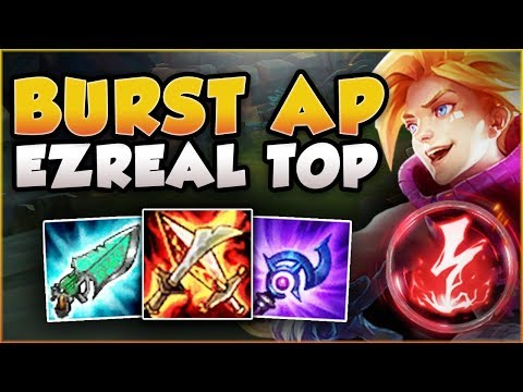 HOW STRONG CAN THIS BURST AP EZREAL BE IN TOP? EZREAL SEASON 8 TOP GAMEPLAY! - League of Legends