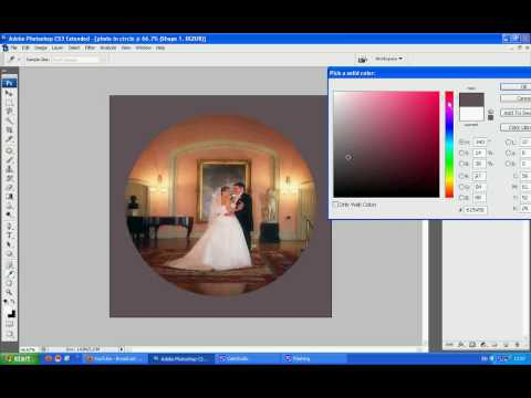how to get a photo picture in a circle using eclipse tool photoshop