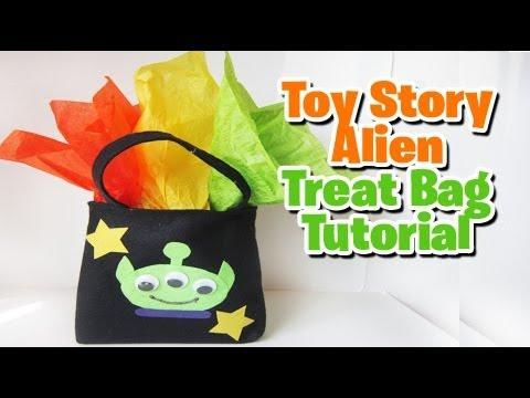 Toy Story Alien treat bag tutorial