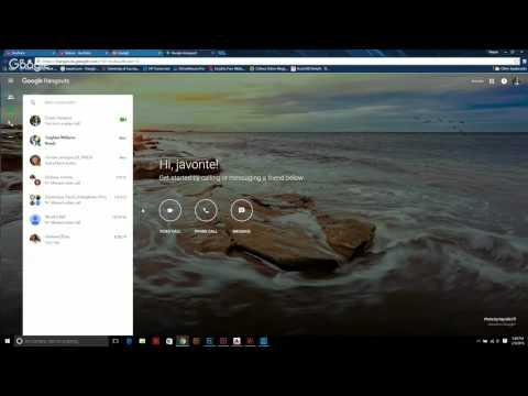 Using google hangouts video call