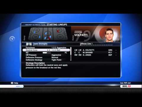 NHL 13: How To Set Up The Computers(Offensive/Defensive Strategies)