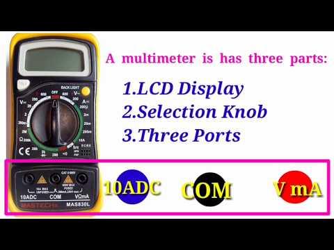 How to measuring the Digital Multimeter in Tamil