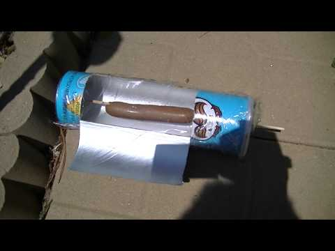 Solar Hot Dog Cooker