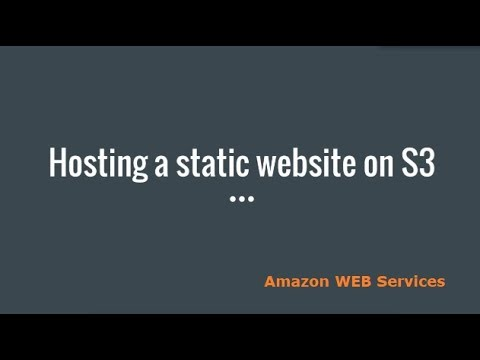 How to Host a Static  Website on S3 Bucket