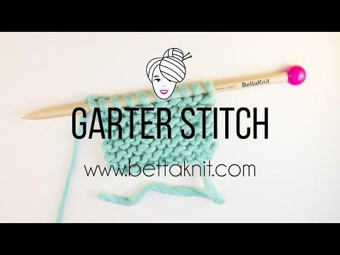 Ho to knit Garter Stitch