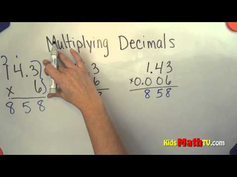 Multiplying Decimals Math Lesson for 4th, 5th and 6th grade kids