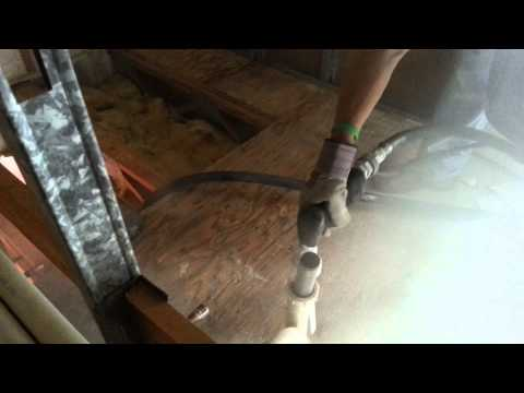 cleaning up a nasty plywood subfloor with dry ice