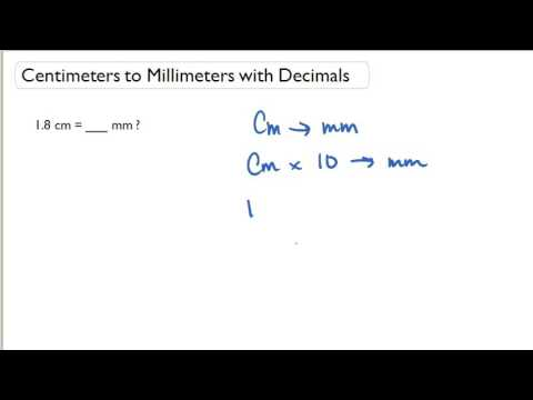Centimeters to Millimeters with Decimals