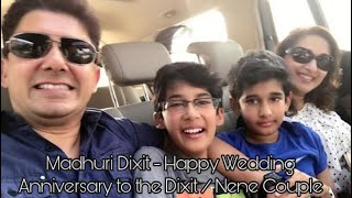 Madhuri Dixit - Happy Wedding Anniversary to the Dixit / Nene Couple