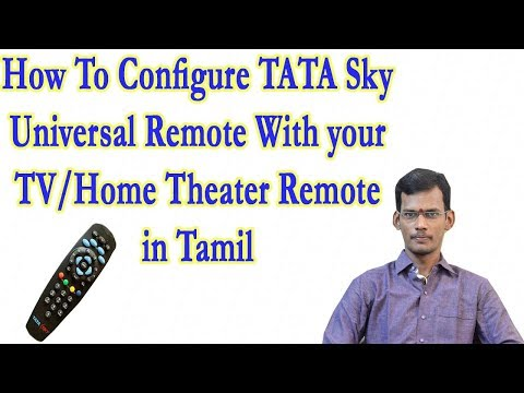 How to configure TATA Sky Universal Remote With your TV/LED remote in Tamil
