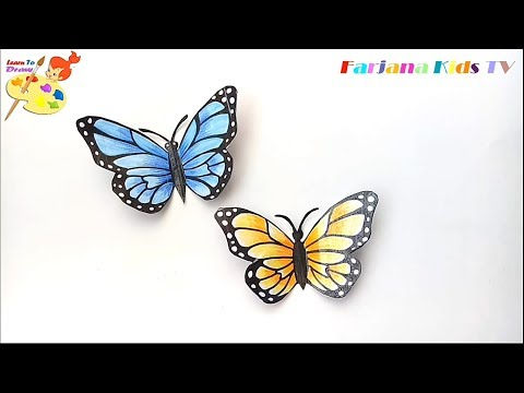 How to Make a Paper Butterfly /3D Butterfly/ DIY crafts: Paper BUTTERFLY (very easy)