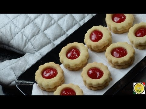 Jam Filled Butter Cookies  - By Vahchef @ vahrehvah.com