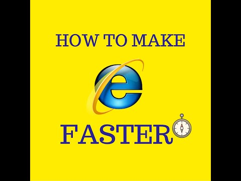 How to make INTERNET EXPLORER FASTER (New 2016)