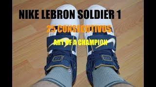 8029e12387dbb1 Nike LeBron Soldier 1 (25 Straight ART OF A CHAMPION)