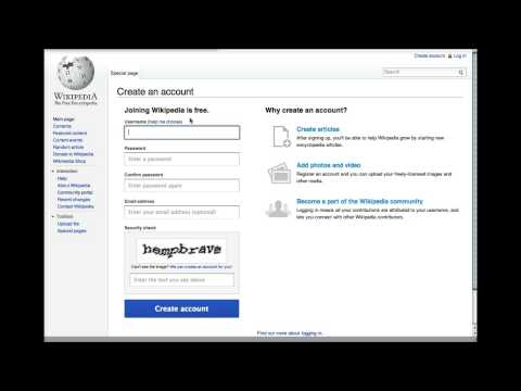 How to create a user account on Wikipedia