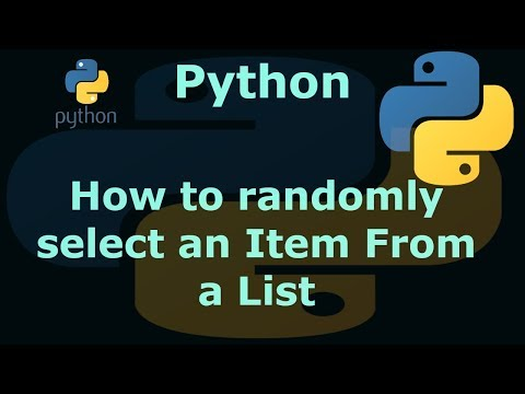Python How to randomly select an Item From a List