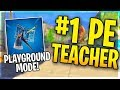 PLAYGROUND MODE SOON Playing With Sponsors 1 Ranked PE Teacher Fortnite Battle Royale