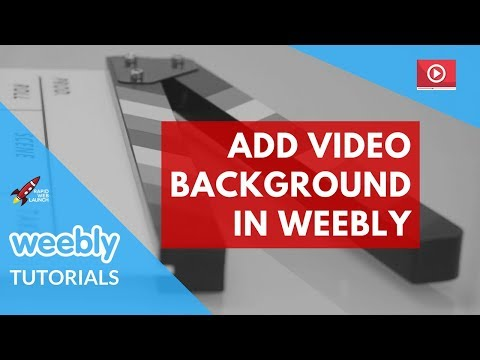 How to add a video background in Weebly | Weebly Tutorials