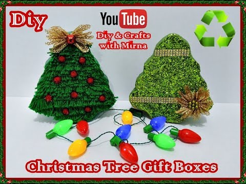 Diy. Christmas Crafts .(Tree Gift Boxes) Diy. & Crafts with Mirna