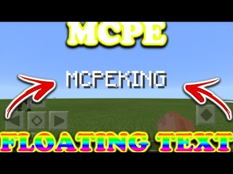 Mcpe 1.0.5 Floating Text//One Command//Title Text!!!