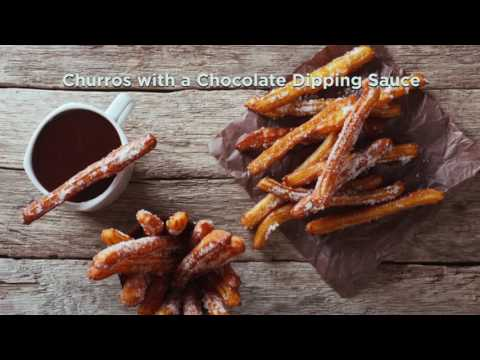 Churros with a Chocolate Dipping Sauce   Afternoon Express   22 June 2016