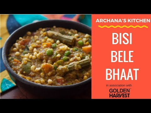 Bisi Bele Bhat Recipe / Spicy Sambar Rice - South Indian Rice Recipes by Archana's Kitchen