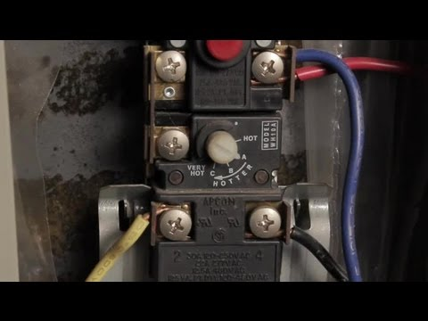 How to Set Water Heater Element Temps : Hot Water Heaters