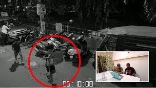 RECORDED IN CCTV,,,,,,,,, SOMEONE SENT MYSTERY BOX