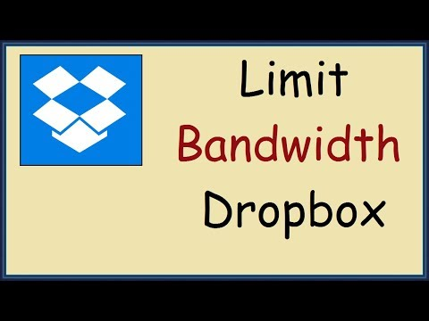 How to limit bandwidth in Dropbox