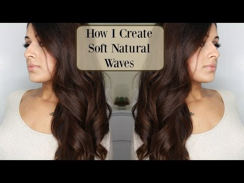 How I Curl/Wave My Hair with a Straightener | Natural Soft Waves | Go To Hairstyle