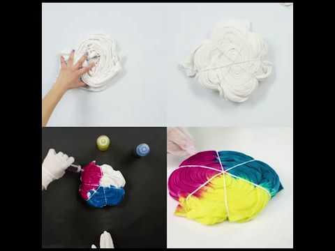 Spiral Tie-Dye Technique in 4 Easy Steps