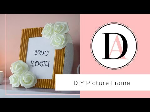 DIY Picture Frame from Cardboard box!