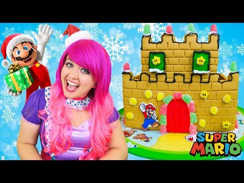 Decorating Super Mario Gingerbread Castle | DIY Christmas Candy Gingerbread House | KiMMi THE CLOWN